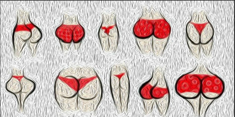 Types of female buttocks